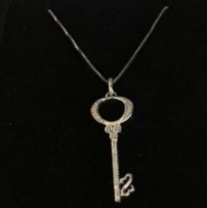 Jewelry - Open heart key necklace from Kay Jewelers